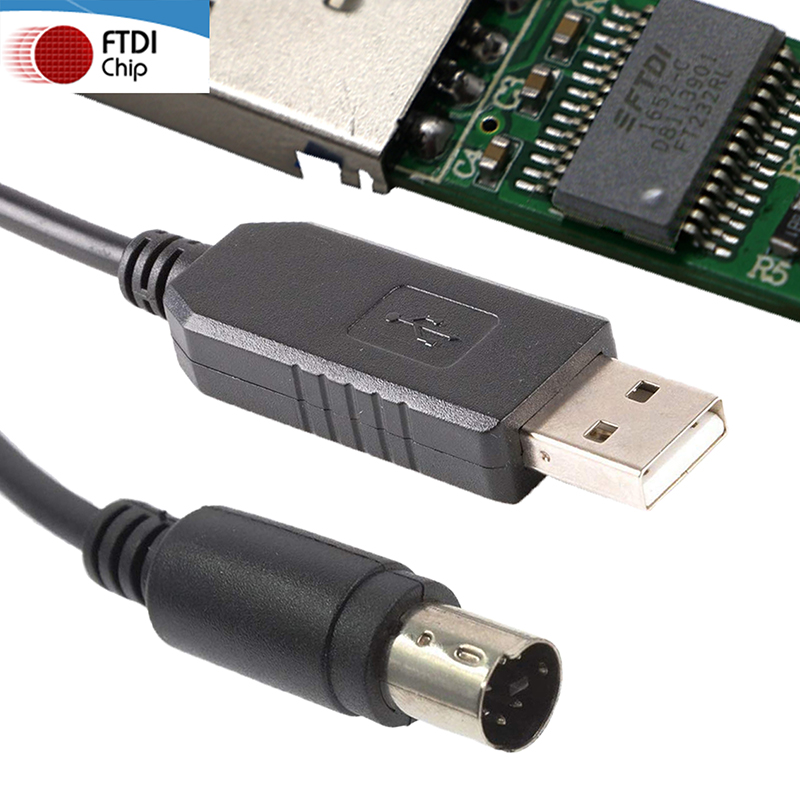 High Compatible WIN10 Plug and Play FTDI FT232RL Chipset USB to 4 5 6 7 8 PIN MINI DIN Serial Adapter Programming CAT Cable