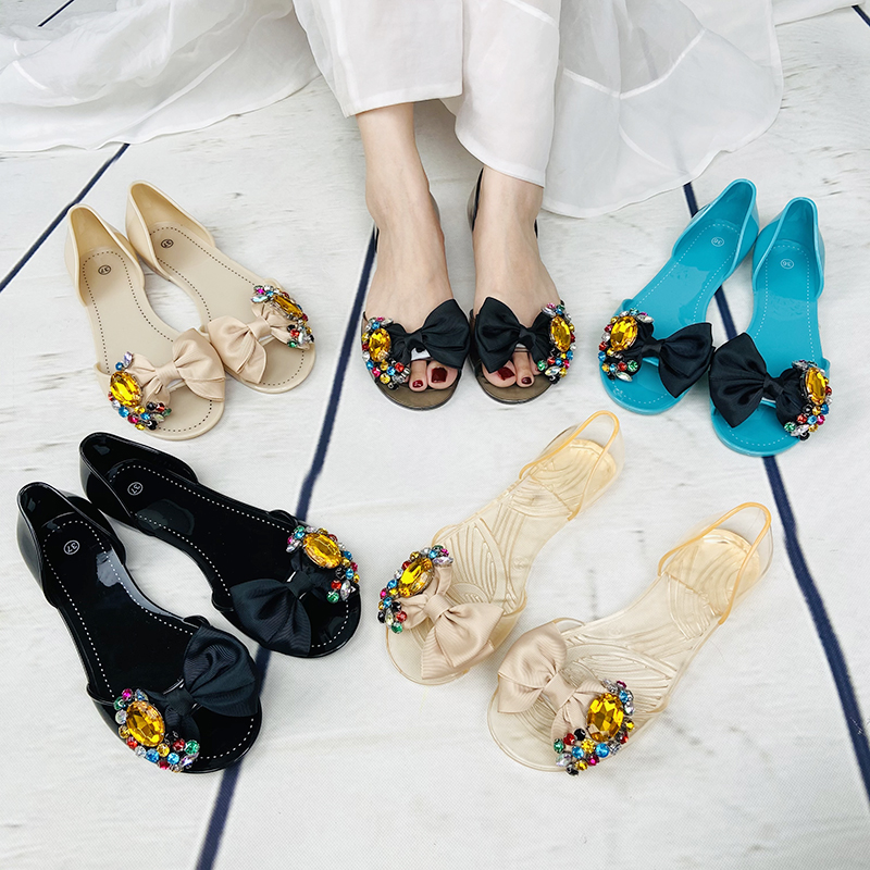 Flat Fashion Women Summer Shoes Lady Transparent Jelly Sandals
