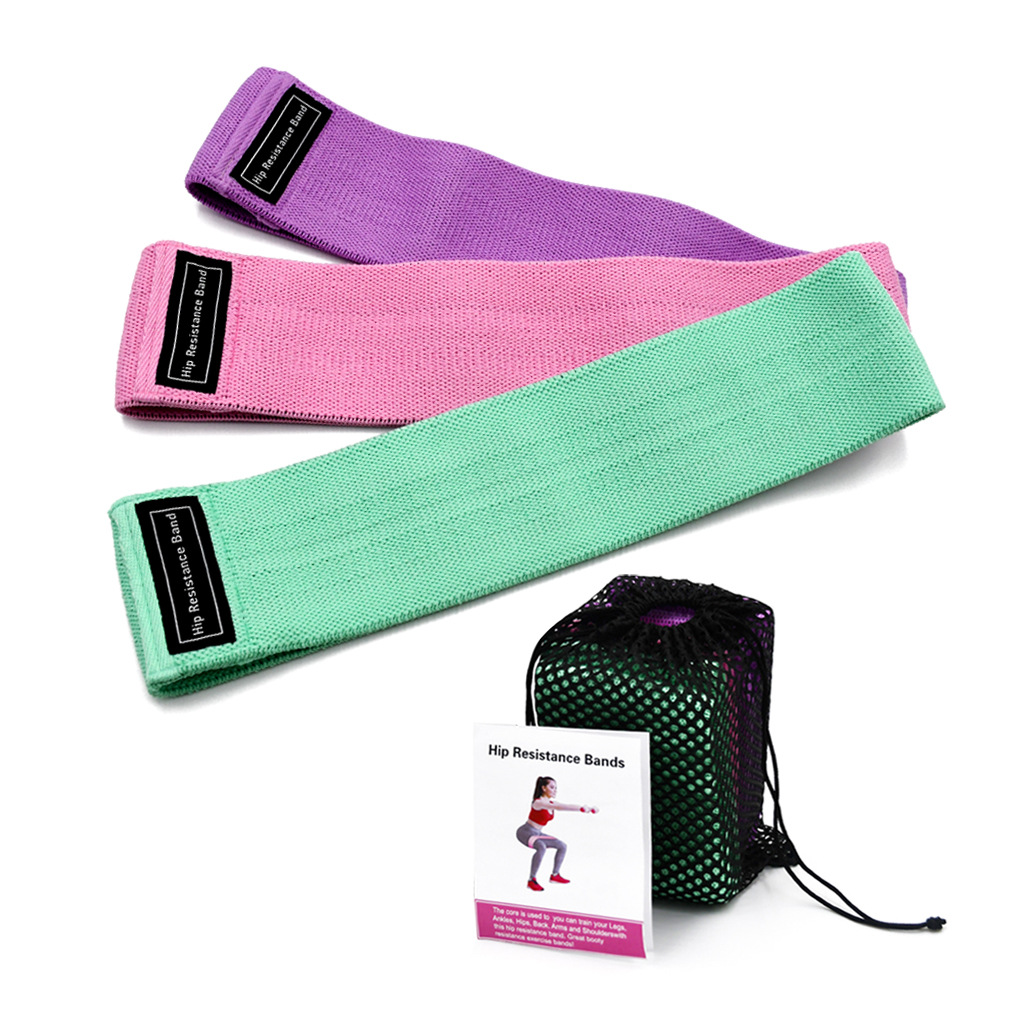 Bodytrainer Custom Silicone Logo Wholesale high quality booty workout gym club Home resistance band leg fitness elastic band