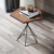 Nordic modern wood small table cross legs side coffee table