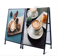 Outdoor Free Standing A Frame Sign Double Side Poster Board