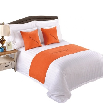 President Cotton Hotel Bed Linen With Stripe Duvet Cover Sets/Bedding Set In Guangdong