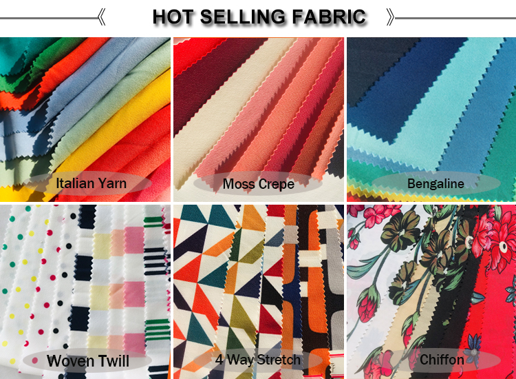 High quality italian crepe chiffon fabric 100% polyester plain dyed fabric for dress