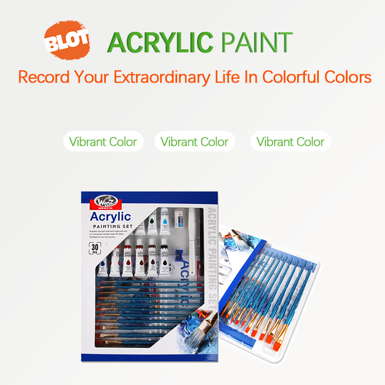 BLOT RST80019 School Supplies 12 Classical Colors Art Acrylic Painting Tubes Set For Artist