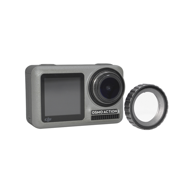 Aluminum Alloy Glass Protector 1:1 Lens Cover Cap for OSMO ACTION CAM