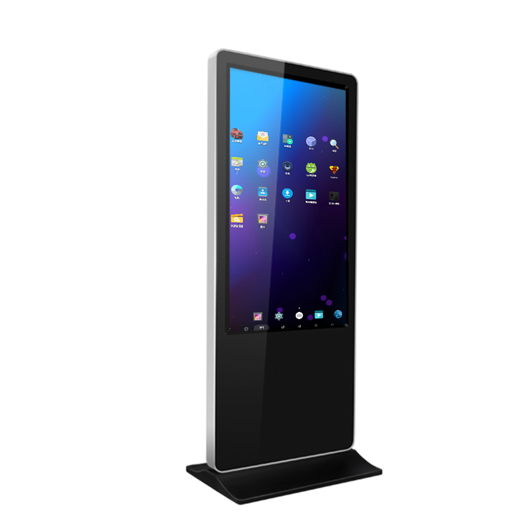 "55 ""floor stand LCD player digital signage werbung display touchscreen kiosk"