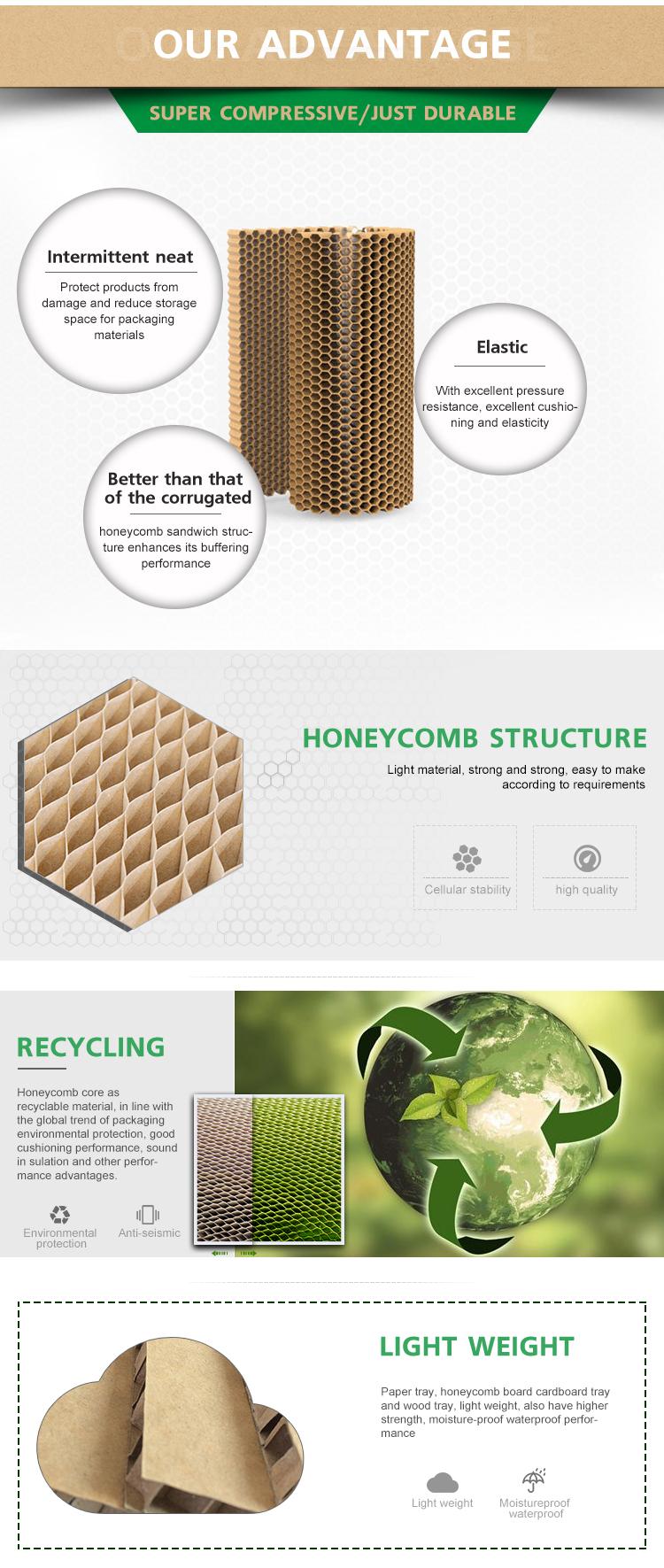 Beste Verkäufe Hohe Festigkeit Langlebig Hohe Qualität Honeycomb Papier Borad Blatt Honeycomb Core Sandwich Panel