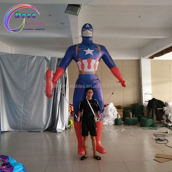 Movie Inflatable captain america puppet character costume