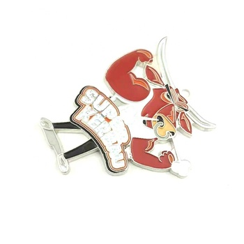 Unique strong cow whosale small custom soft enamel metal lapel pin