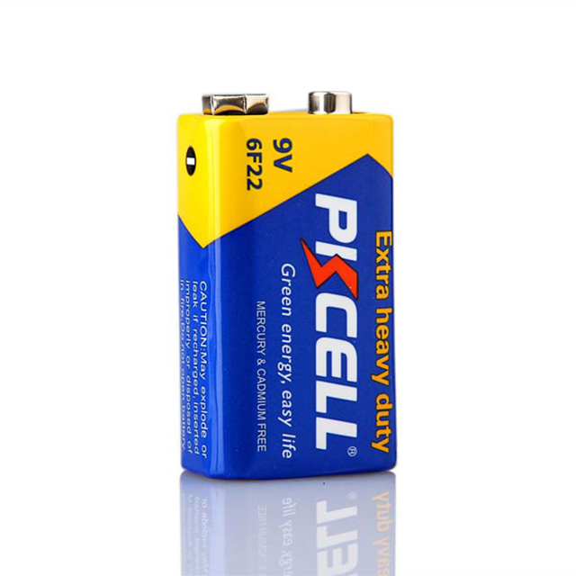 Batería de carbono zinc 9v 6f22 superresistente Power plus