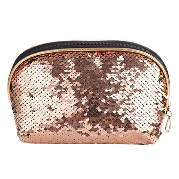 Sequin Bag Makeup Pouch Glitter Sequins Cosmetic Bag Organizer Handbag