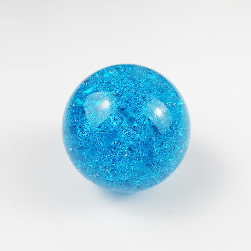 Colorful Light Blue 60mm 80mm K9 Crystal Ball Ice Crack Balls /K9 Solid Christmas Crystal Ball /Purple Glass Sphere Crystal Ball