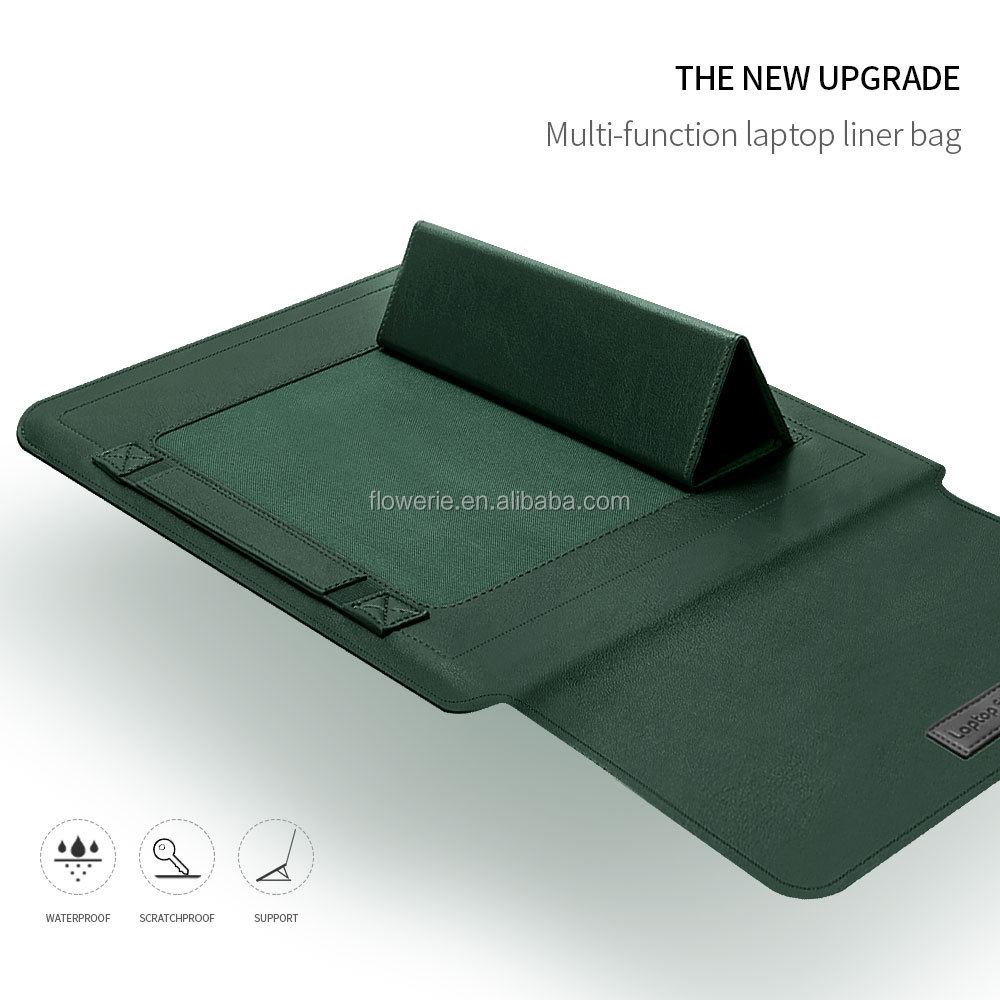 LB2020046 hot sale PU Leather Laptop Sleeve Case With Stand Holder Bag For 13 14 15inch Computer Bag