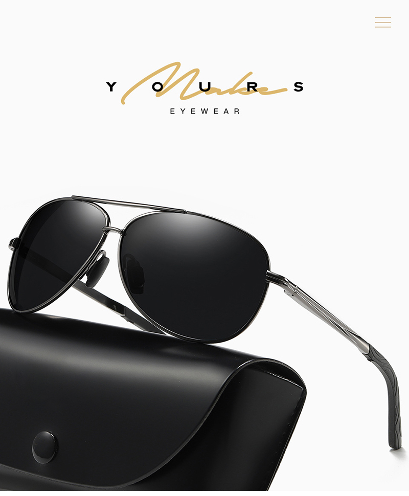 Fuqian polarized white frame sunglasses mens for business for men-5