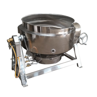 Factory supply Industrial gas heating cooking machine pots with mixer