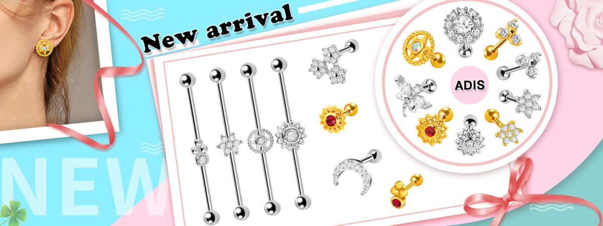 Wholesale 16g surgical steel cross shaped ear piercing stud earring jewelry