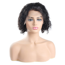 Women wig cheap price vendor bob lace wig half lace wave bob curly wig hot sale