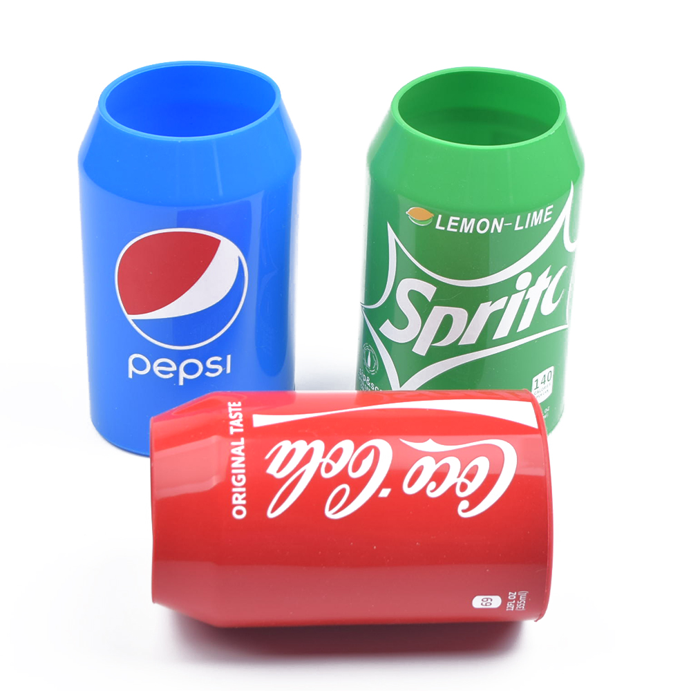 Hide Beer Can Sleeve Covers Silicone Can Shape Cooler Sleeve Cover Hide A Beer,Perfect For Outdoors Events, Party