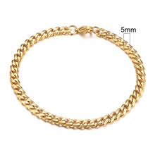 Простая цепочка из нержавеющей стали для женщин 3-11 мм, Классическая цепочка в стиле панк, простые уличные вечерние аксессуары, базовые ювел...(Китай)