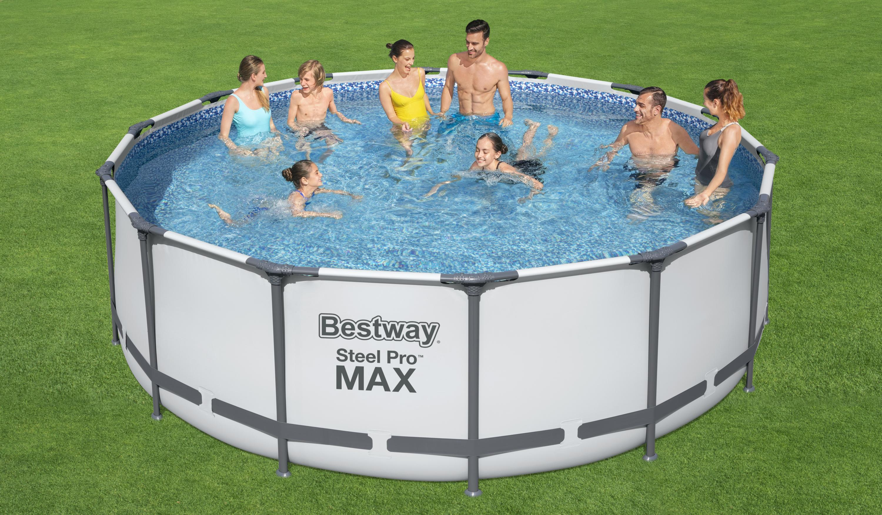 Bestway 5612X 4.27m x 1.22m Family Taille Round Metal Frame Swimming Pools