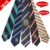 China Custom Made 100% Polyester Cheap School Tie Woven Men Striped Neck Ties with Logo