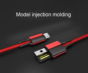 Fast Charging Type C Cable Nylon USB Phone Cable for Samsung / Huawei / One plus