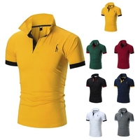 Product upgrade man short sleeve polo shirt customized logo 100% pique cotton polo shirt