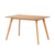 Kitchen furniture modern MDF board dining room set tables and chairs with wooden legs