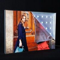 new product ideas 2019 lattice led backlit wall frameless advertising fabric light box for Brand shop