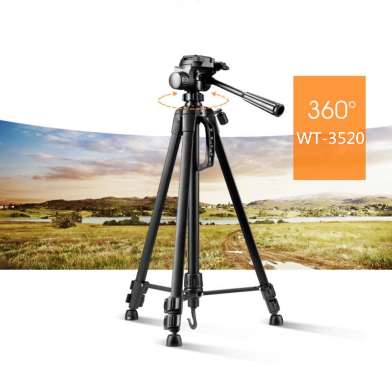 Yüksek kaliteli dijital kamera tripod alüminyum hafif kamera standı en iyi telefon tutucu tripod WT-3520