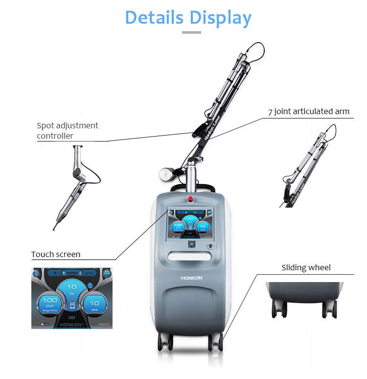 HONKON Vendite Calde 1064nm E 532nm Picosecond Laser Macchina di Rimozione Del Tatuaggio