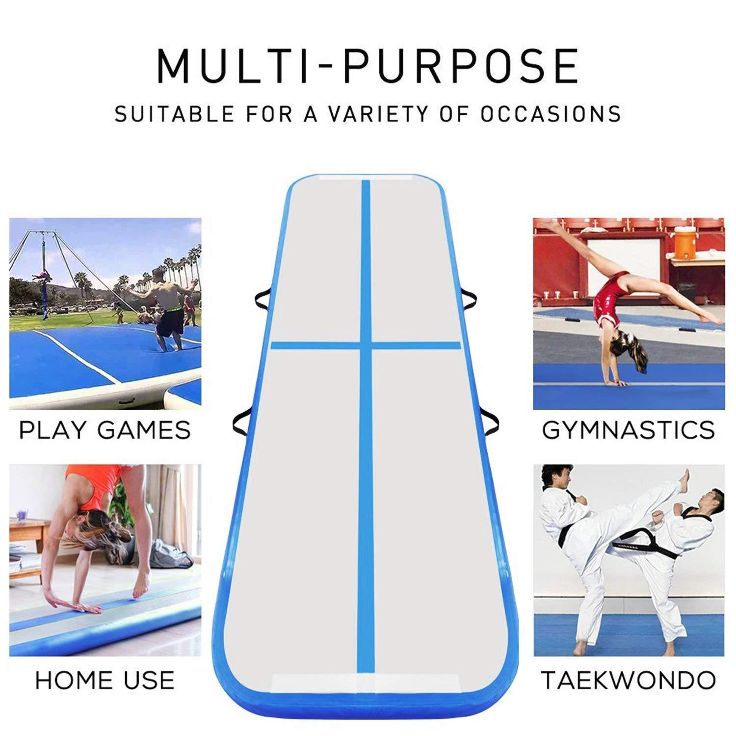 3M 4M 5M Air Track Inflatable Gymnastics Floor Trampoline Electric Air Pump, Air Track Tumbling//