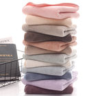 Towels Multiple Colours Luxury Micro Fiber Coral Fleece Hand Towels With Piping Edge And Hook