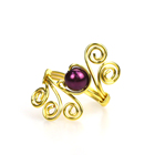 Ring Women Women's High Quality Handmade Crystals Bead Wire Wrap Ring For Women Jewelry