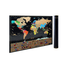 High Quality Large Scratch Off World Map Poster For Traveling