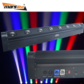 China products hot selling 8pcs 10W RGBW 4in1 LED beam moving head light sweeper beam led hanging bar wall washer