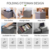 customized home storage printed pvc leather tower ottoman foldable storage ottoman stool