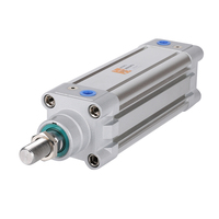 ISO6431 DNC series aluminum standard small micro seal telescopic double acting pneumatic air cylinder
