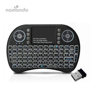 i8 Wireless Backlit Keyboard French/Russia/English/Spanish Version 2.4GHz Air Mouse with Touchpad Remote Control Android TV Box