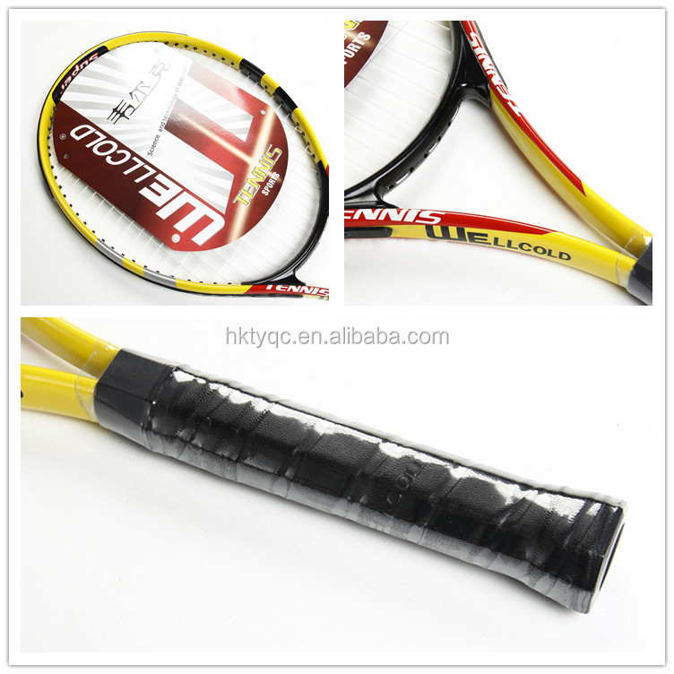 OEM brand one piecealuminium alloy tennis rackets wholesale for hand held game