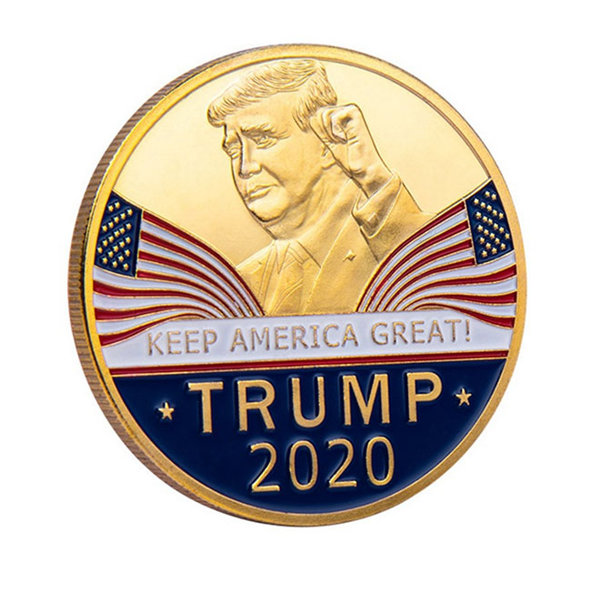 Gold Coin American 45th President Donald Trump challenge Coin US White House Metal trump 2010 Coin Collection