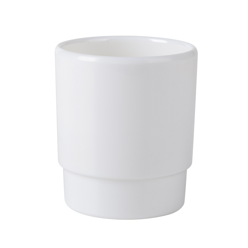 210ml Melamine Tea Cups Chaozhou Factory Price White Hard Plastic Cup