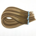New product brown remy tape human hair extension