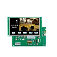 Programmable Embedded 7 inch instrument color lcd display+TFT LCD+Mother Board with CPU/driver,support RS232/RS485/TTL port