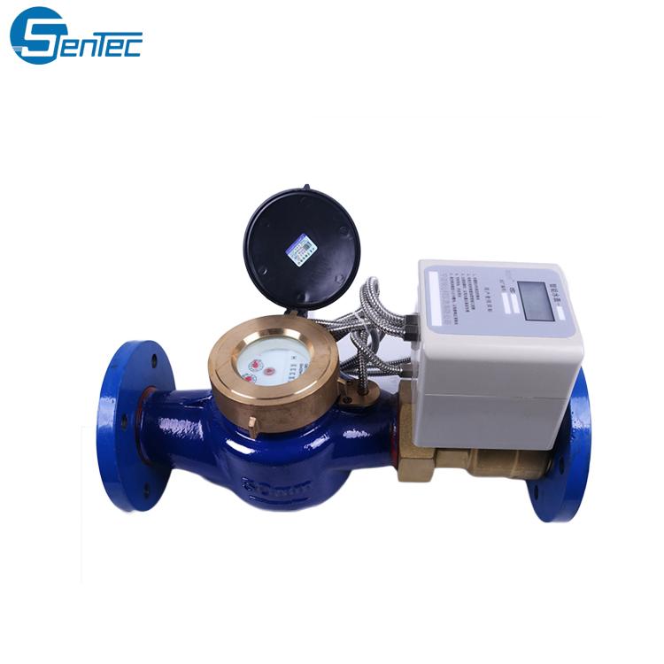 RS485 Digital inteligente prepago accionamiento magnético de RF medidor de agua