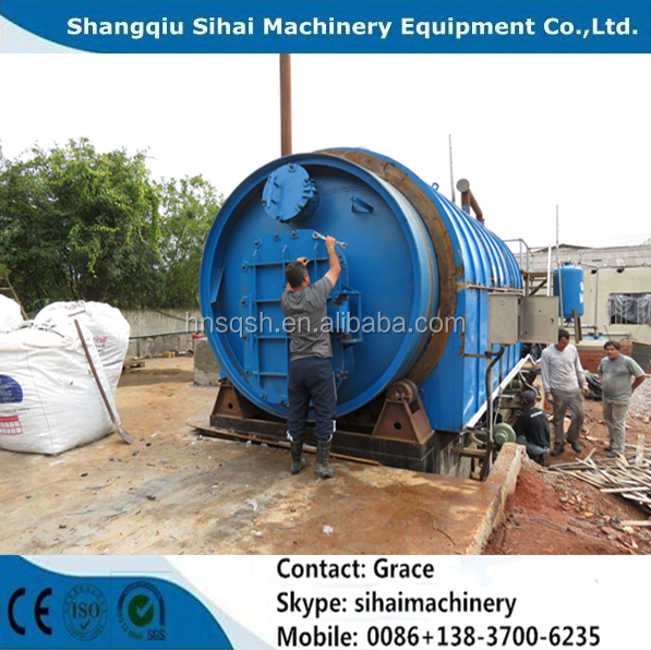 used car tire recycle to oil pyrolysis plant