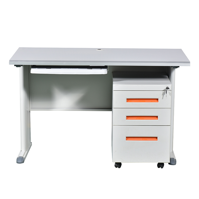 Customized school office metal table computer stainless steel desk
