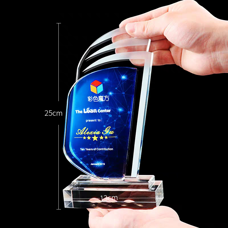 HBL Clear Costomerized Wedding Gift New Design Music Crystal Sublimate Award