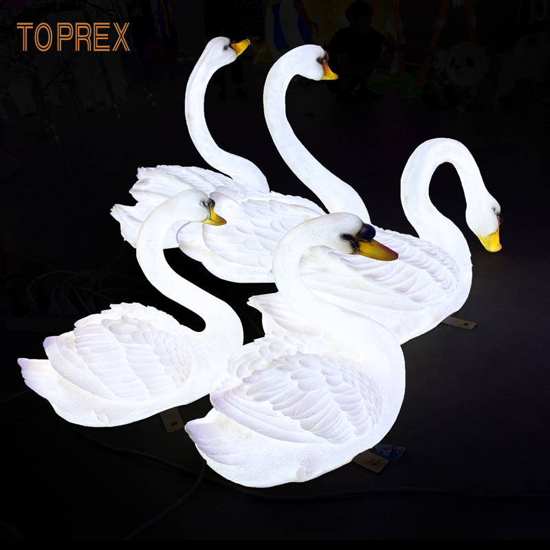 TOPREX DECOR Harz handwerk lebensechte led schwan dekoration licht für ZOO museum outdoor dekoration