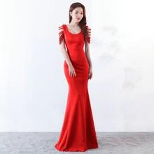 Атласное длинное платье подружки невесты YIDINGZS, новинка, вечерние платья YD1217(Китай)